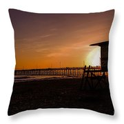 Close Of The Day At Newport Beach Throw Pillow