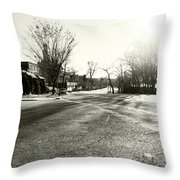 Close To Asphalt Throw Pillow