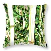 Close Up Big Fresh Bamboo Throw Pillow