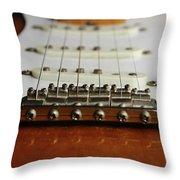 Close Up Electric Guitar Throw Pillow