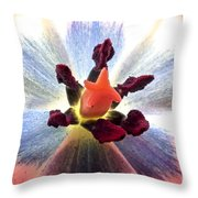 Close Up From A Tulip Flower Throw Pillow