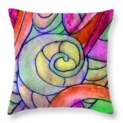 Close Up In The Garden Brightly Throw Pillow