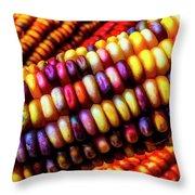 Close Up Indian Corn Throw Pillow