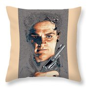 Close Up James Cagney As Gangster  Rocky Sullivan In Angels With Dirty Faces 1938-2008 Throw Pillow
