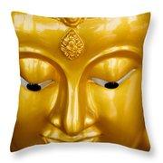 Close-up Of A Golden Buddha Throw Pillow