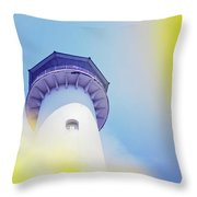 Close Up Of A Lighthouse Building Throw Pillow