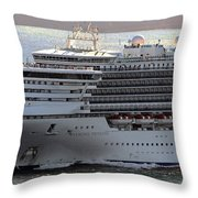 Close Up Of Diamond Princess Throw Pillow
