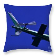 Close Up Of Helicopter Vh Lee Throw Pillow