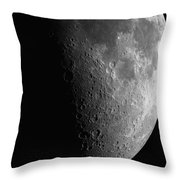 Close-up Of Moon Throw Pillow