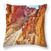 Ochre Pits - West Mcdonald Ranges Throw Pillow