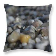 Close Up Of Rocks Throw Pillow