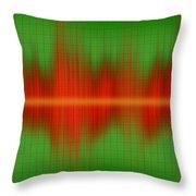 Close-up Of Sound Waves Throw Pillow