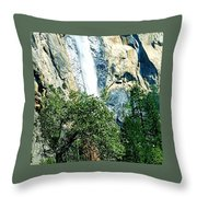 Close Up Of Waterfall  Throw Pillow