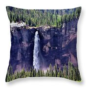 Close-up Telluride Falls Throw Pillow