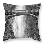 Close Up View Of Multnomah Falls Throw Pillow