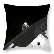 Close-up View Of The Nose Cone On Space Throw Pillow