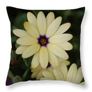 Close View Of A Flower Throw Pillow