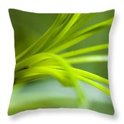 Close View Of Green Flower Throw Pillow