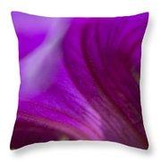 Close View Of Purple Petunia Throw Pillow