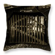 Closed Barn Throw Pillow