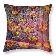 Closed Butterfly Door Throw Pillow
