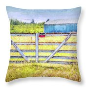 Closed Down Throw Pillow