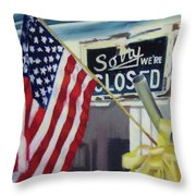 Closed For Business Throw Pillow