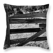 Closed Gate Throw Pillow