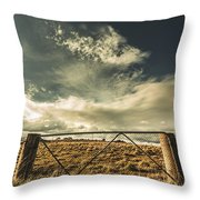 Closed Gates And Open Paddocks Throw Pillow