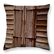 Closed In Sepia Throw Pillow