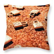 Closed Off Throw Pillow