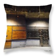Closed Shop Stall Doors Throw Pillow