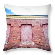 Closed Windows Throw Pillow