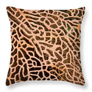 Closeup Detail Of The Interlaced Throw Pillow