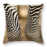 Closeup Of A Grevys Zebras Legs Equus Throw Pillow