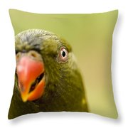 Closeup Of A Scaly-breasted Lorikeet Throw Pillow