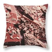 Closeup Of Chocolate Pieces And Shavings On Plate Throw Pillow