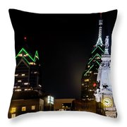 Closeup Of City Hall Philadelphia Throw Pillow