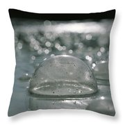 Closeup Of Gaseous Bubbles In A Hot Throw Pillow by Carsten Peter