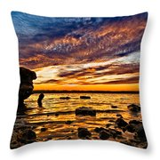 Closing Colors Throw Pillow