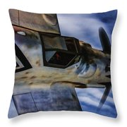 Closing In On A Straggler - Oil Throw Pillow