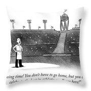 Closing Time Throw Pillow