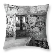 Clothcraft In Black And White Throw Pillow