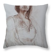 Clothed Model Throw Pillow by Harry Robertson