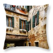 Clothes On A Line Throw Pillow