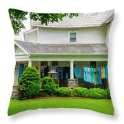 Clothes On The Front Porch Throw Pillow