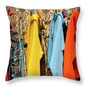 Clothes Rack Throw Pillow