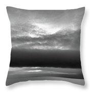 Cloud Above Lake Simcoe Bw  Throw Pillow