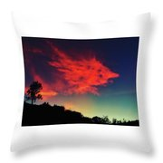 Cloud And Tree Throw Pillow