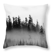 Cloud And Trees  Throw Pillow